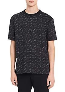 Short Sleeve Printed Crew Neck Shirt