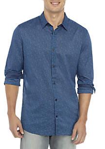 Long Sleeve Floral Button Down Shirt