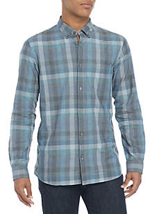 Long Sleeve Heather Square Check Shirt