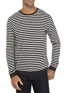 Calvin Klein Striped Long Sleeve Crew Neck Shirt