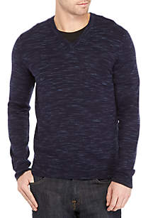 Calvin Klein Merino Space Dye Long Sleeve Top