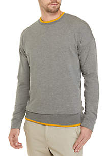 Long Sleeve Tipped Cuff Sweatshirt