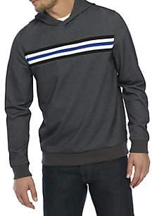 Long Sleeve Stripe Crossover Hoodie