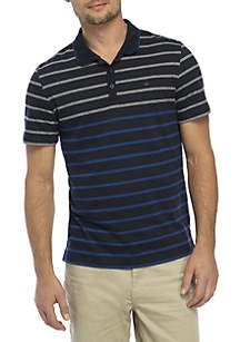 Bold Ombre Striped Polo