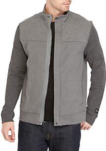 Long Sleeve Fabric Blocked Knitted Jacket