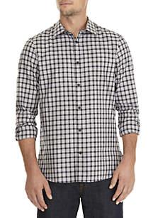 Calvin Klein Long Sleeve Dobby Check Shirt