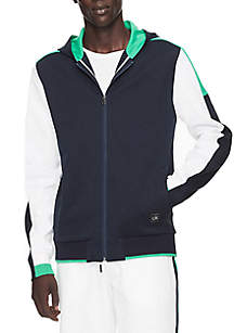 Calvin Klein Regular Fit Colorblock Zip Hoodie