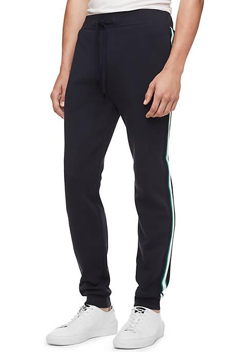 Calvin Klein Regular Fit Stripe Logo Drawstring Joggers