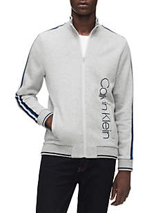 Calvin Klein Signature Logo Mock Neck Full-Zip Jacket
