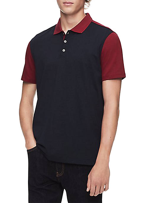 Calvin Klein Regular Fit Colorblock Polo Shirt