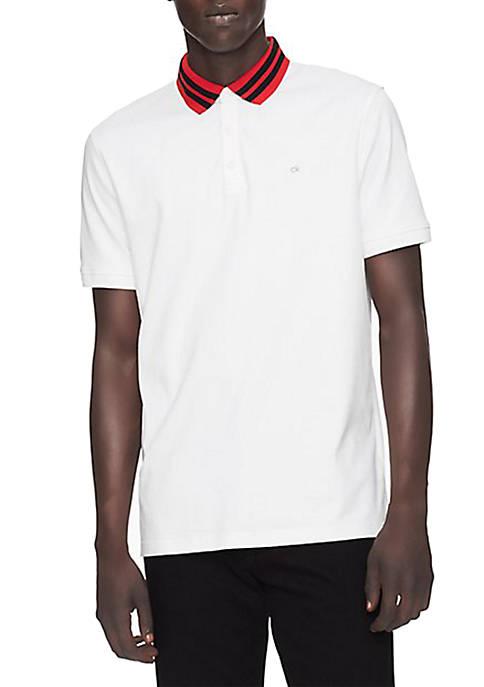 Calvin Klein Regular Fit Tipped Polo Shirt
