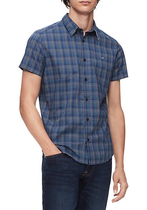 Calvin Klein Plaid Short Sleeve Woven Shirt