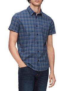 Plaid Short Sleeve Woven Shirt