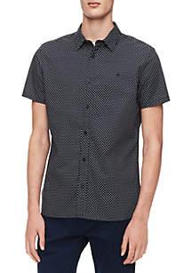 Multi Print Short Sleeve Woven Shirt