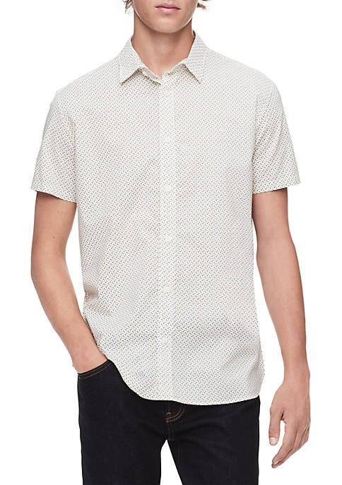 Calvin Klein Multi Print Short Sleeve Woven Shirt