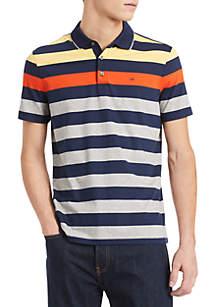 Calvin Klein Short Sleeve Three Button Stripe Polo Tee