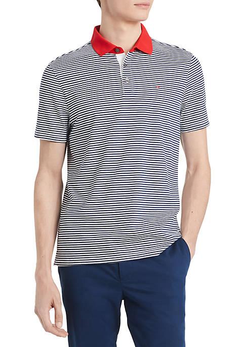 Calvin Klein Feeder Stripe Contrast Collar Turn Back