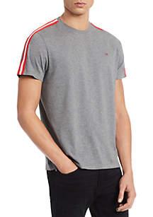Calvin Klein Solid Jersey Sleeve Trim T Shirt