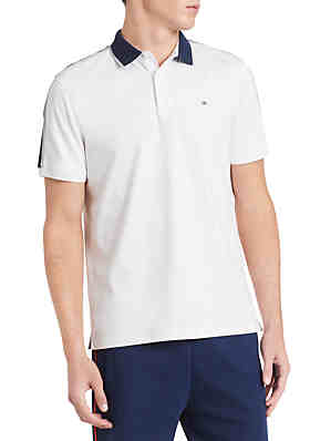 4c571a92742 Calvin Klein Liquid Touch Tipped Collar and Tape Shoulder Polo ...