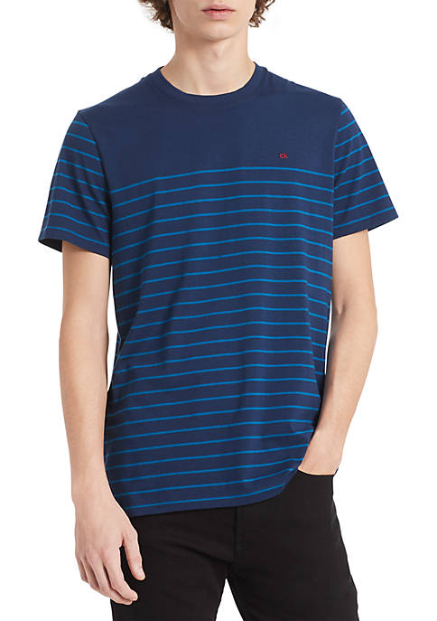 Calvin Klein Auto Stripe Cotton T Shirt