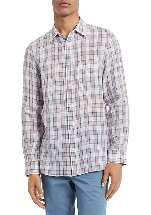Calvin Klein Plaid Button Down Shirt