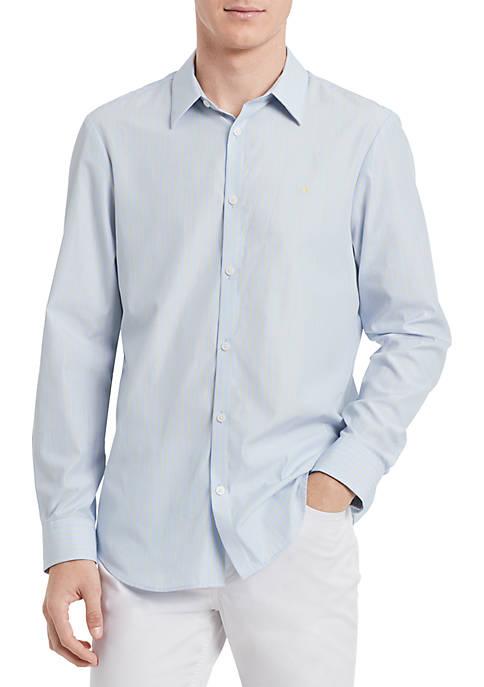 Calvin Klein Cotton Cashmere Seasonal Stripe Shirt