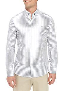 Calvin Klein Extra Fine Cotton Season 2 Color Double Stripe Shirt