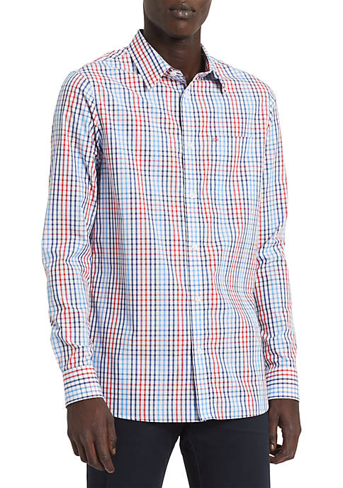 Calvin Klein Extra Fine Cotton Seasonal Plaid Shirt
