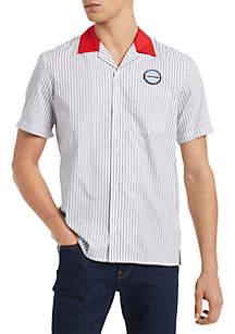 Calvin Klein Short Sleeve Stripe Twill Garage Shirt