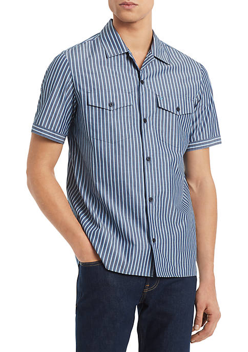 Calvin Klein Short Sleeve Boyscout Camp Shirt
