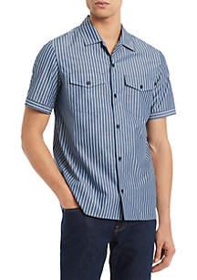 Calvin Klein Short Sleeve Boyscout Camp Shirt