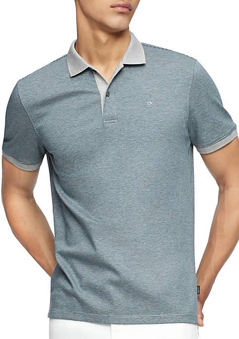 Calvin Klein Short Sleeve Feeder Stripe Interlock Rib