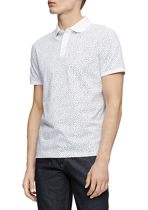 Calvin Klein Short Sleeve Allover Micro Dot Print