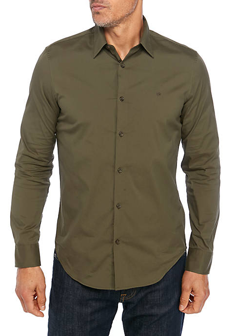 Calvin Klein The Stretch Cotton Solid Shirt