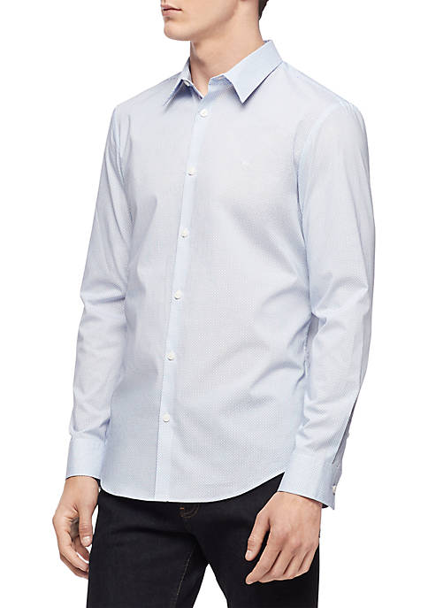 Calvin Klein Long Sleeve Applied Placket Printed Shirt