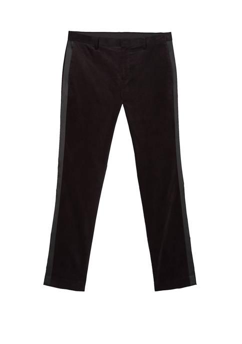 Calvin Klein Mens Velvet Tuxedo Pants
