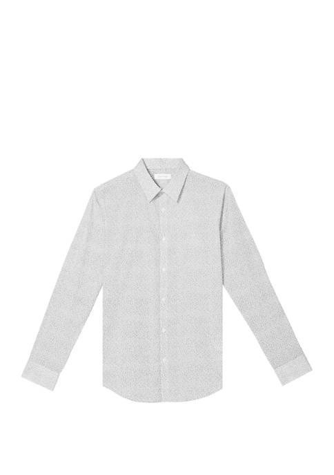 Calvin Klein Mens Stretch Cotton Printed Shirt
