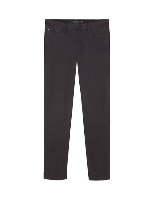 Calvin Klein Mens Printed Textured 5 Pocket Pants