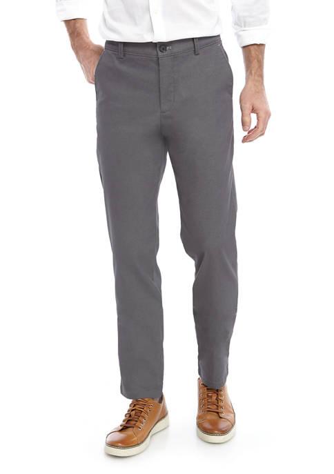 Calvin Klein Hybrid Stretch Flat Front Twill Pants