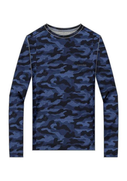 Calvin Klein Long Sleeve Camo Crew T-Shirt