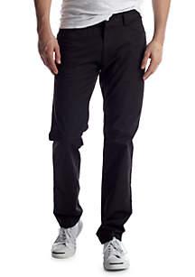 Slim Fit Flat Front Pants
