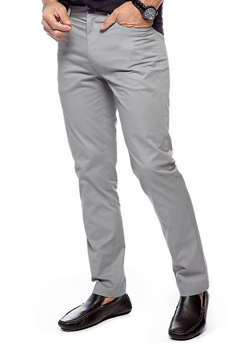 Calvin Klein Slim Fit Flat Front Pants