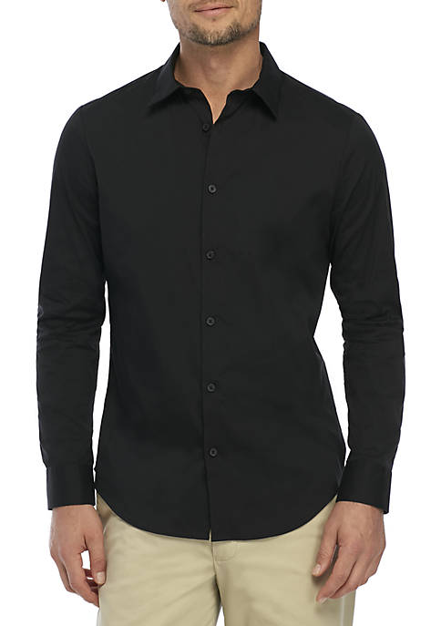 Calvin Klein Stretch Cotton Slim Fit Shirt