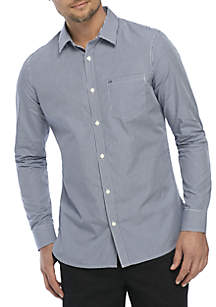 Cotton Stretch Slim Fit Woven Gingham Shirt