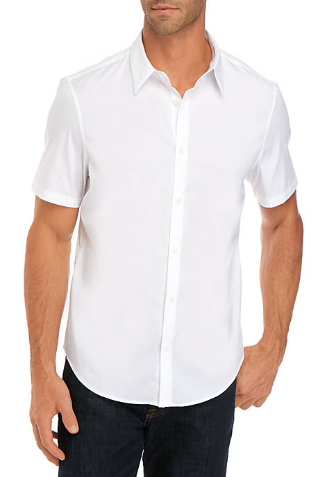 Calvin Klein Short Sleeve French Placket Stretch Shirt