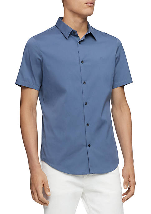 Calvin Klein Short Sleeve French Placket Stretch Shirt