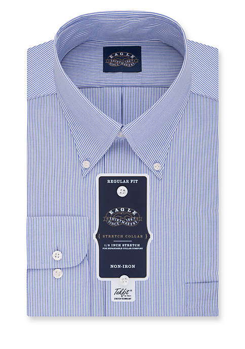 Eagle Non-Iron Regular Fit Stretch Collar Dress Shirt