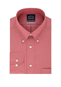 Eagle Regular Fit Stretch Collar Solid Button Down Dress Shirt