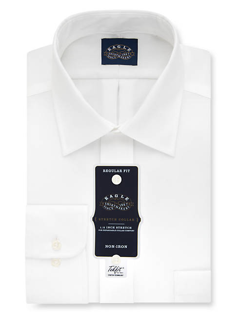 Non-Iron Regular Fit Stretch Collar Dress Shirt