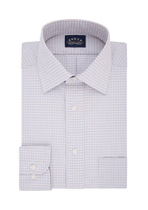Eagle Stretch Collar Plaid Shirt